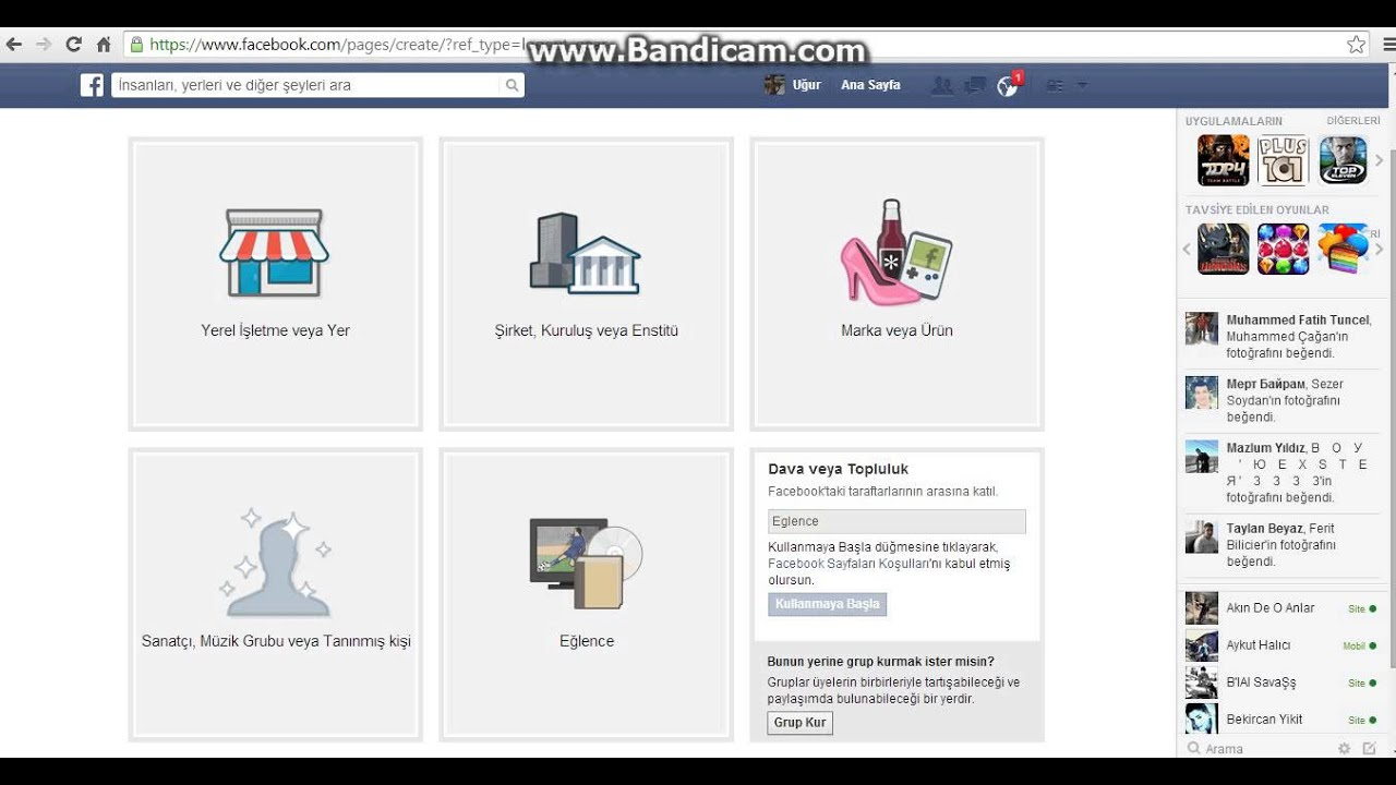 Facebook'ta Sayfa Nasıl Kurulur 2014