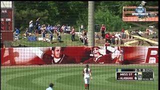 04/21/2013 Mississippi State vs Alabama Softball Highlights