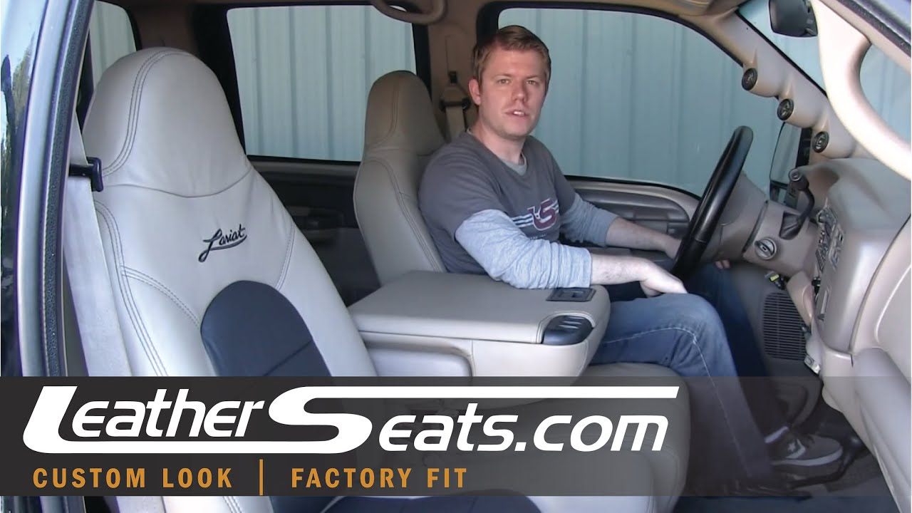 ford f 250 f 350 crew cab lariat replacement leather interior upholstery kit leatherseats com [ 1280 x 720 Pixel ]