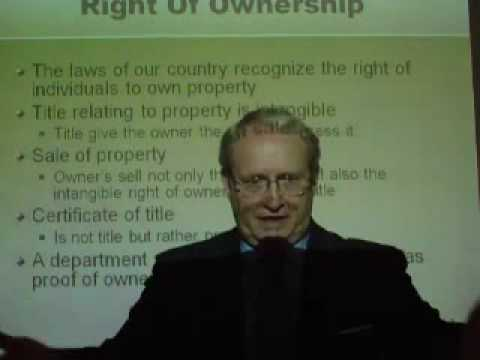Transfer of Title - Ownership to Personal Property Overview