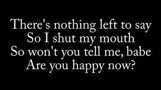 Lirik Lagu Happy Now - Zedd Ft. Elley Duh (Lyric)