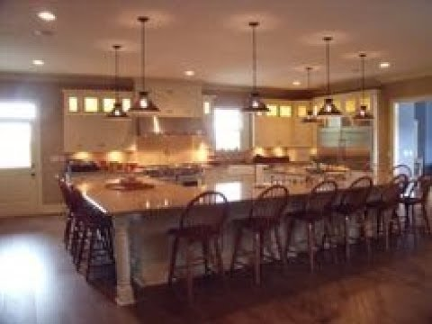 Large Kitchen Island with Seating  YouTube
