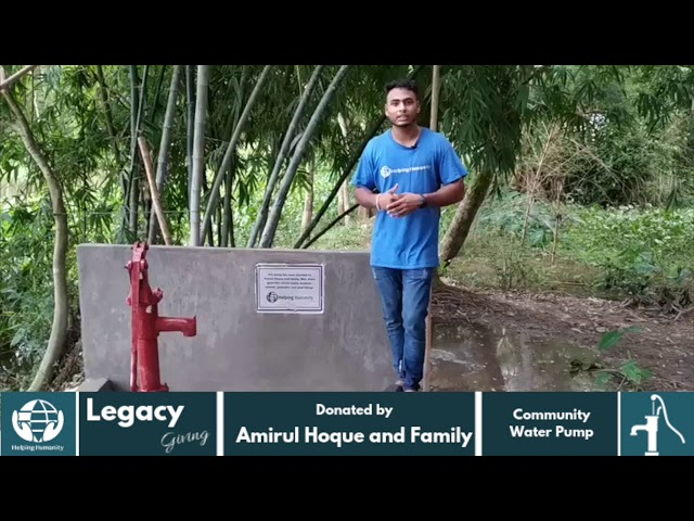 Water Pump Donated by Amirul Hoque and family