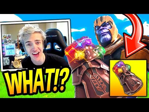 NINJA BECOMES THANOS AND USES HIS GAUNTLET SUPERPOWERS!! *OP* Fortnite FUNNY & SAVAGE Moments