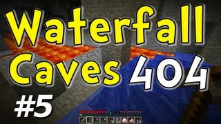 "Waterfall Caverns E05 ""Chicken Rescue"" (Minecraft 404 Hardcore Challenge)"