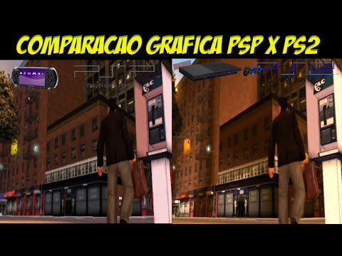 Graphic Comparison between Playstation 2 and PSP - Grand Theft Auto Liberty City Stories