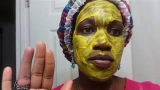 masque anti-acne au curcuma et aloes vera