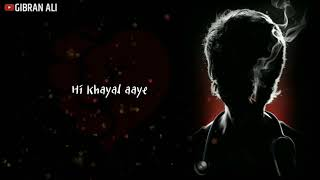 Bekhayali Mein Bhi Tera Hi  Khayal Aaye - Kabir Singh | Whatsapp Status Video | Sidharth Slathia