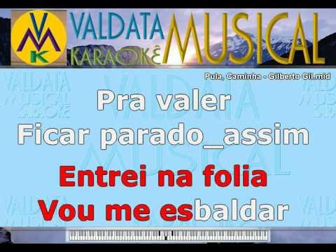 Pula, Caminha   Gilberto Gil   KARAOKE