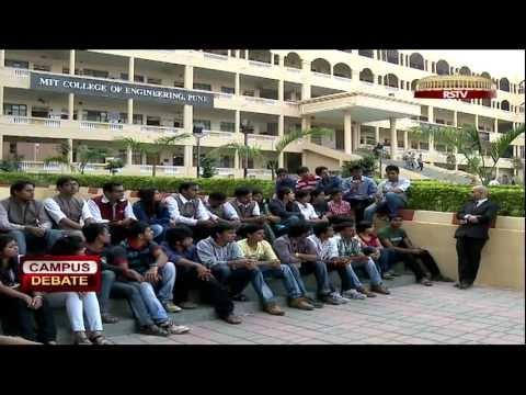 Campus Debate - Youth, Politics & Social Change # 1/2 (MIT, Pune)