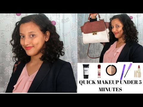 How To : Office Makeup Under 5 Minutes | Quick Everyday Makeup Look | Affordable Products