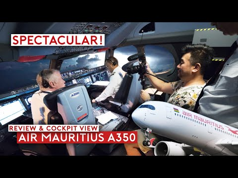 Spectacular Thunderstorm on Air Mauritius A350 (Flight Review & Cockpit View)