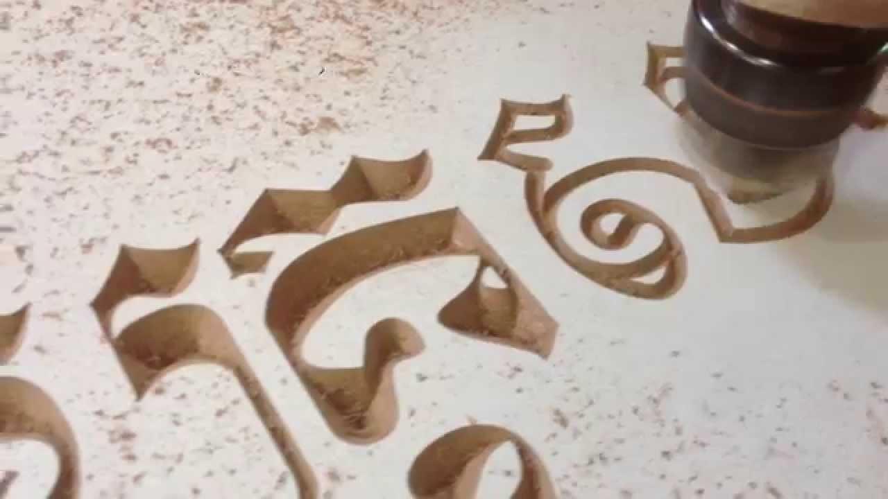 cnc router 6090 engraving khmer letter with v bit knife youtube