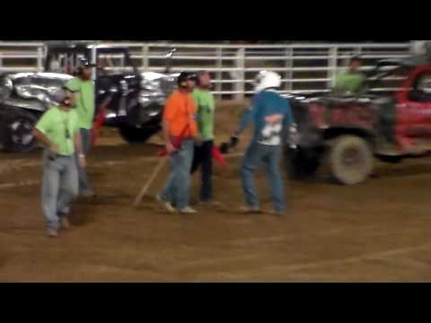 Angry Driver At The Lincoln County Fair Demo Derby Hugo Colorado 2016