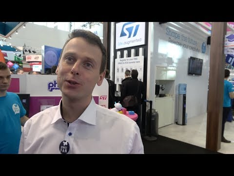 ST booth tour: STM32WB, STM32C2C, ST25DVW, startups, students at Embedded World 2018