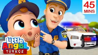 Polis Amca Üniformayı Tanıtıyor, Bebek Eğleniyor | Can Bebek Çocuk Şarkıları | Little Angel Türkçe