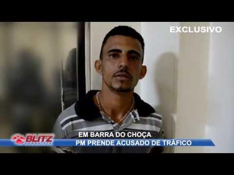 PM DE BARRA DO CHOÇA PRENDE ACUSADO DE TRÁFICO