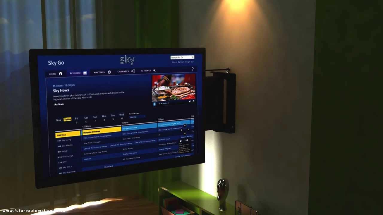 Motorised Swivel Tv Mount Future Automation Pse90 From Av