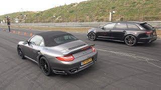 Audi RS6 Avant C7 vs Porsche 911 Turbo S vs Nissan GT-R R35