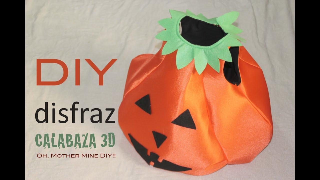 Diy como hacer disfraz de calabaza 3d halloween patr n - Como hacer un disfraz de bebe ...