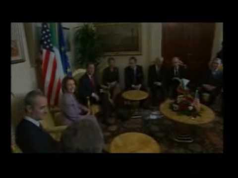 Nancy Pelosi a Montecitorio (la visita)