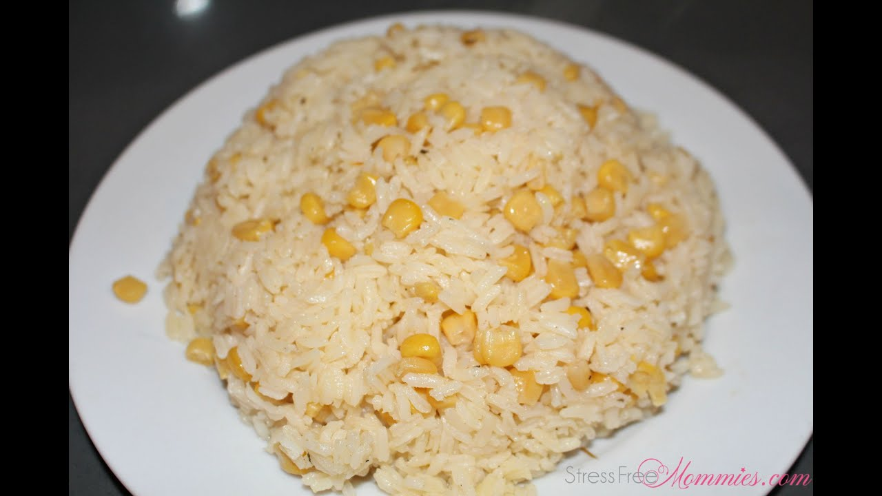 Arroz con maiz youtube for Como cocinar pollo