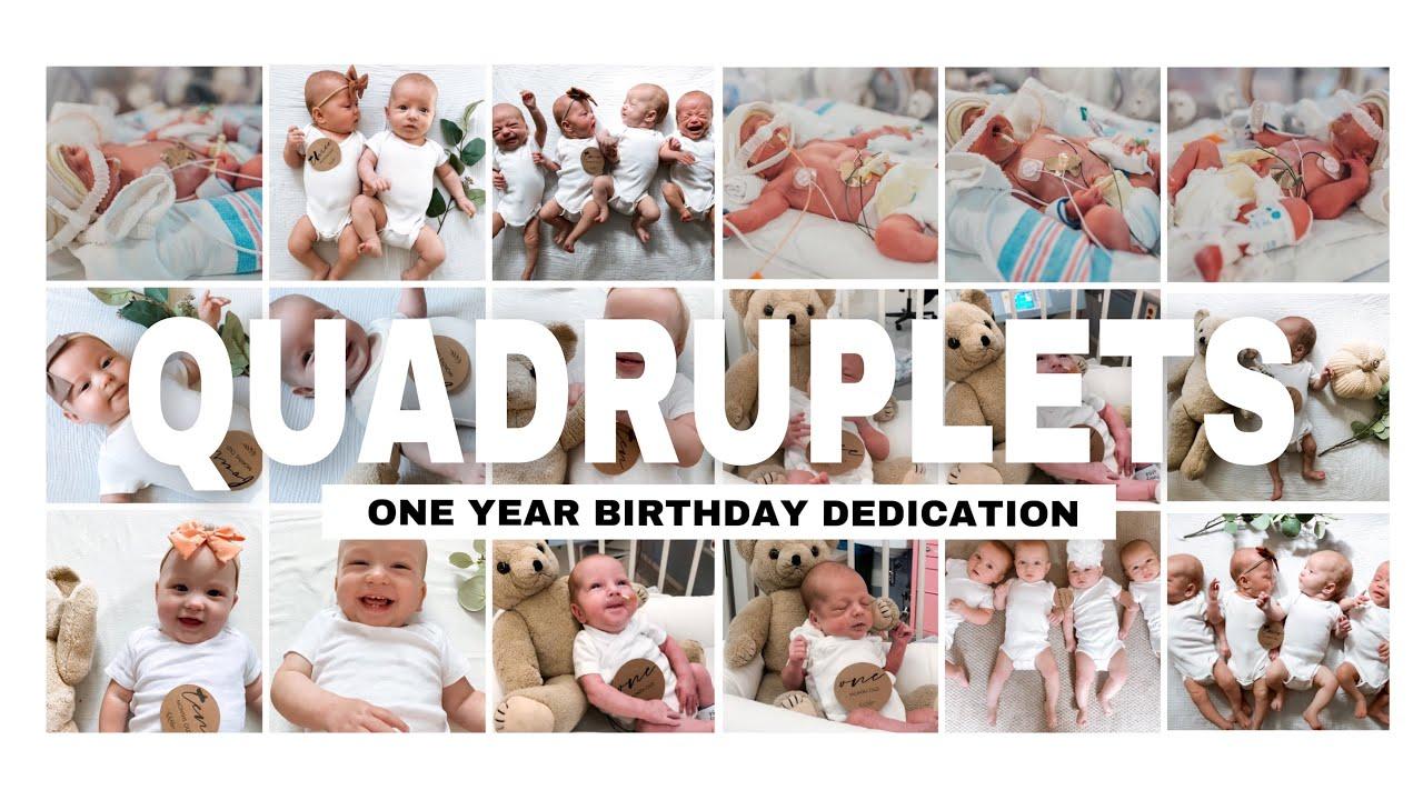 QUADRUPLETS | First Birthday  - Dedication ( EMOTIONAL )