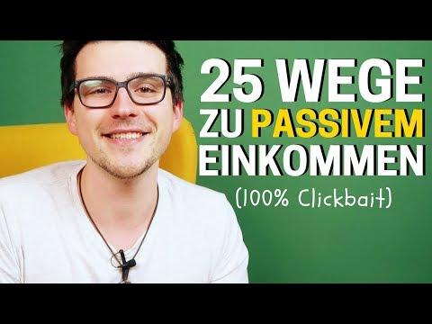 25 Wege Um Passives Einkommen Online Zu Generieren (200€ Pro Tag Guide)