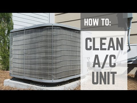 HOW TO | Cleaning a House Central Air Conditioner Unit