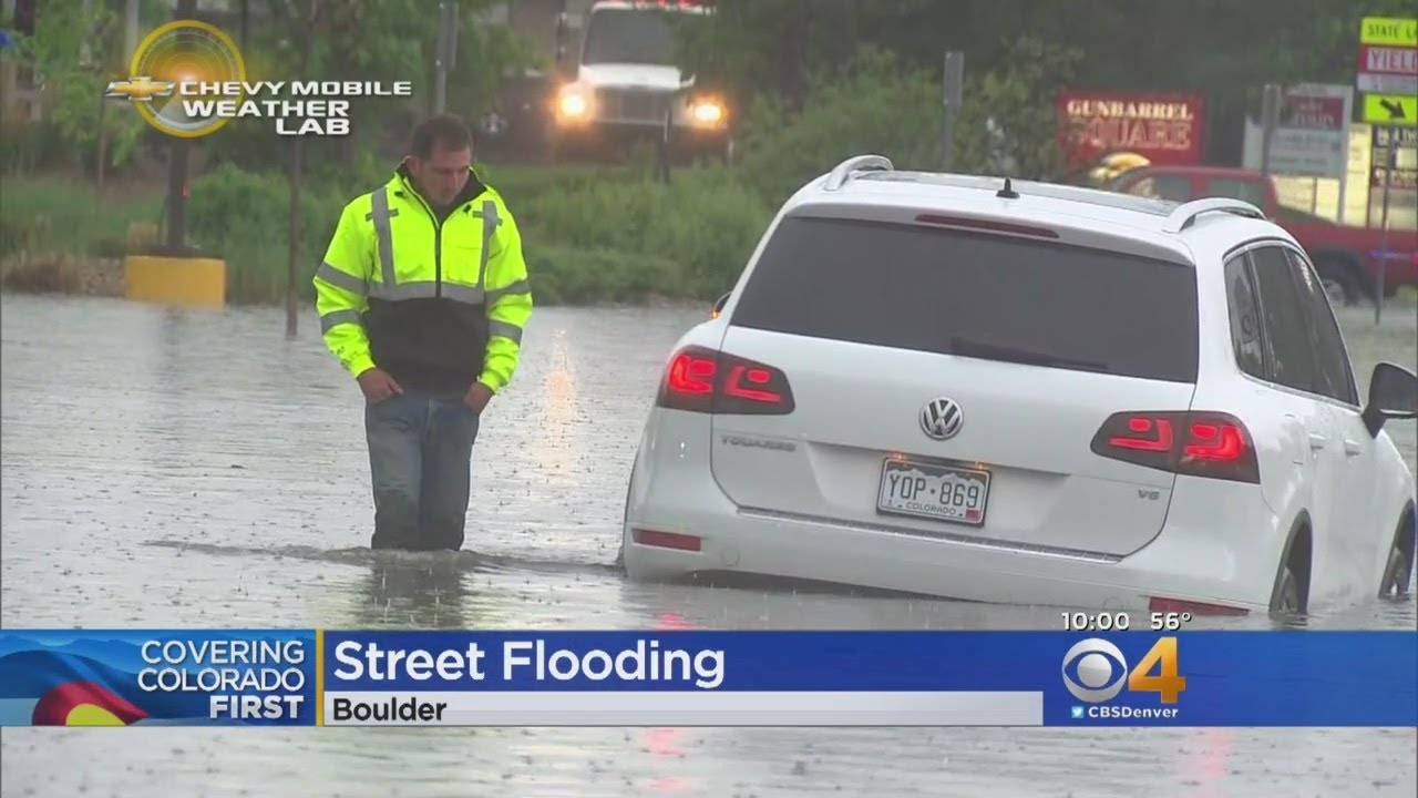 Hail, Rain, Flash Flooding Hits Front Range