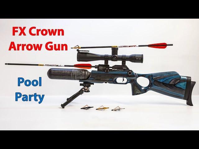 Airgun Broadhead Launcher + Archery Pool Party - FX Crown Airgun Kit + Megaboom