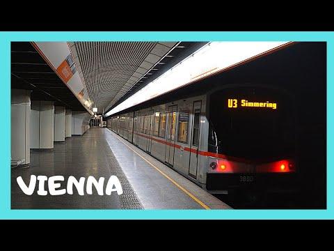 VIENNA: Riding the modern METRO (subway, underground), AUSTRIA