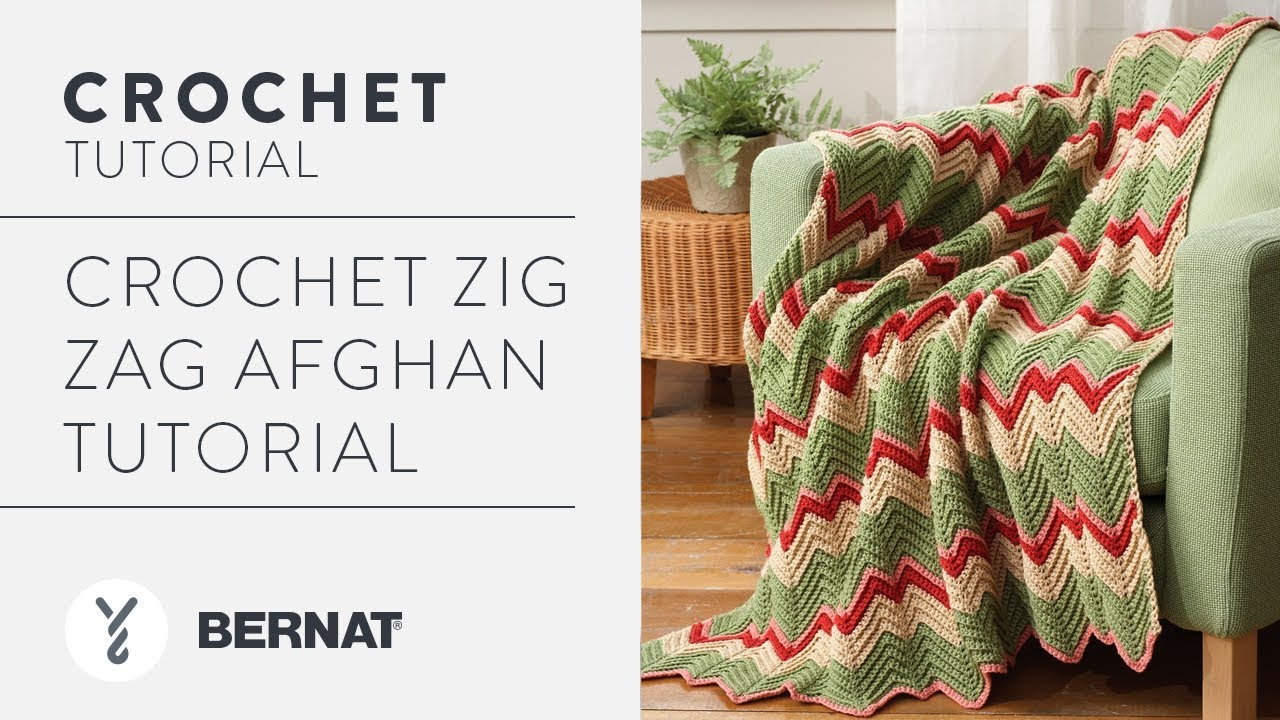 Crochet Zig Zag Afghan Tutorial - YouTube