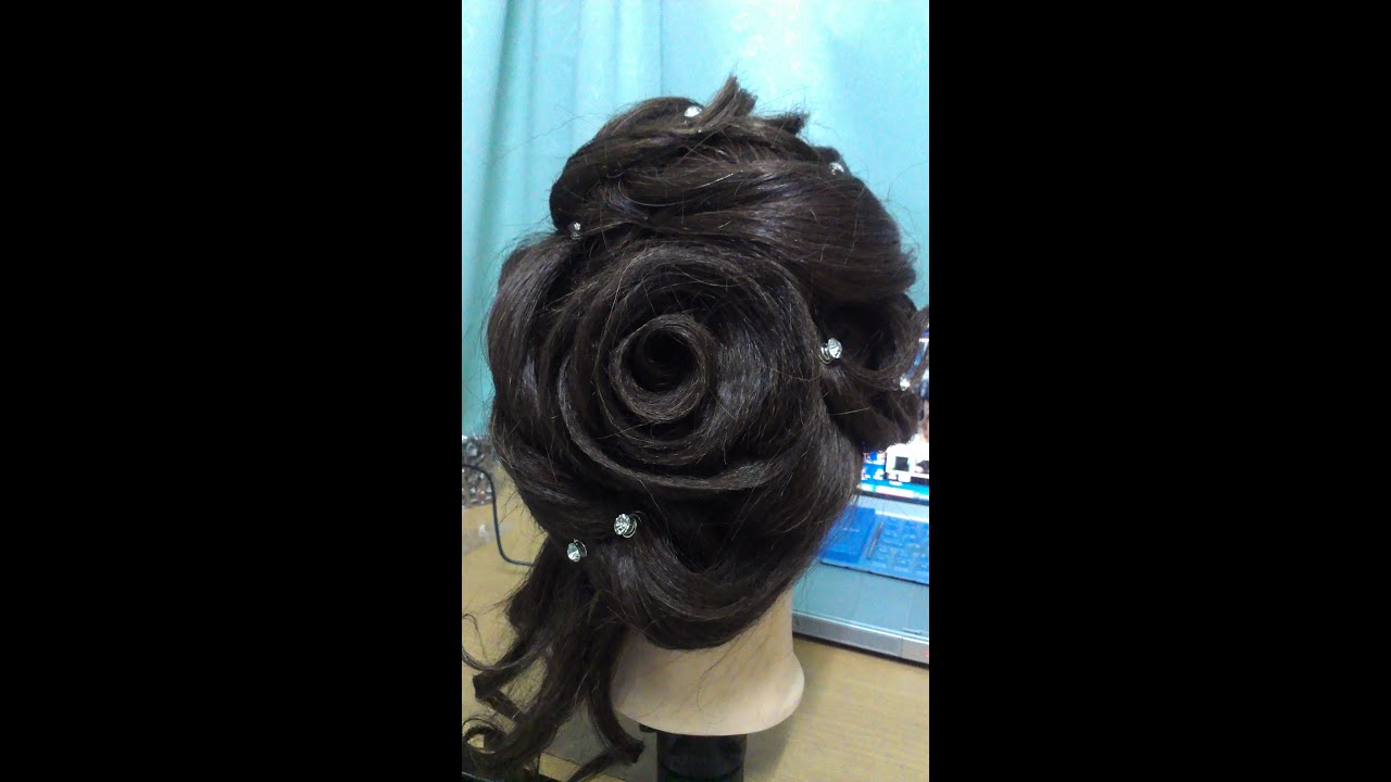 Rose Design Hairdo I YouTube - Hairstyle design dikhaye