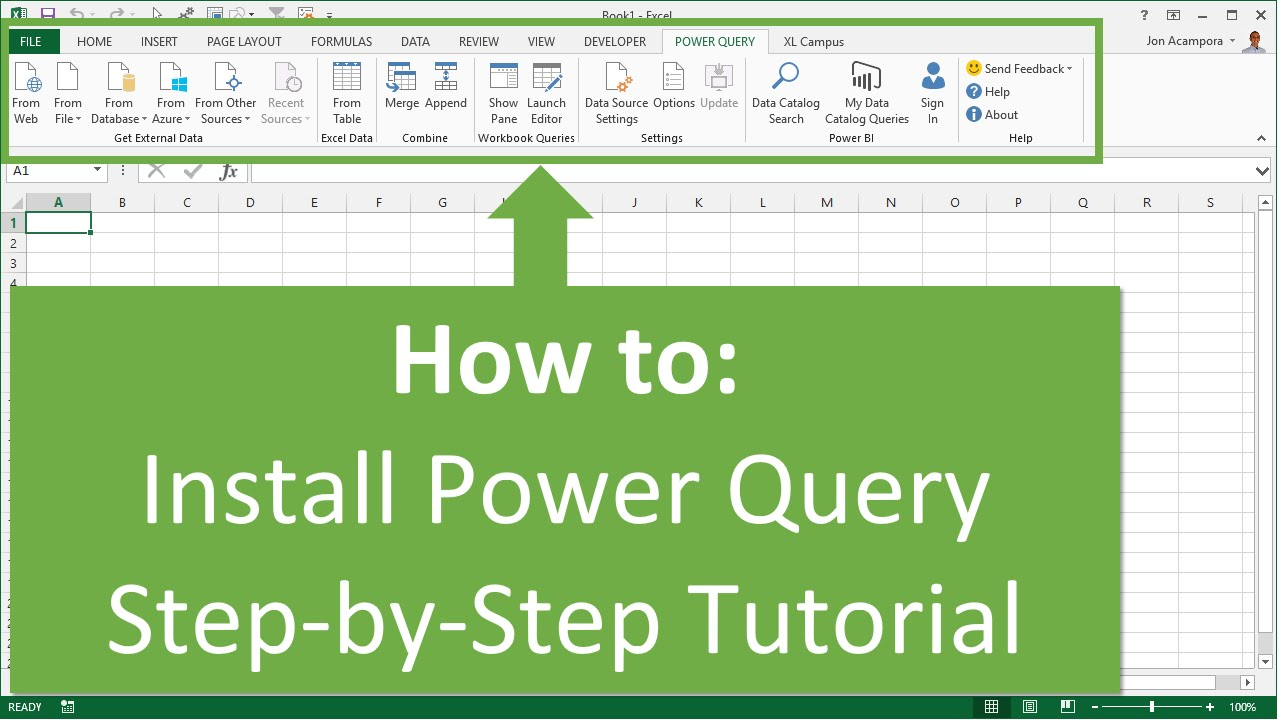 How to install power query in excel 2010 or 2013 for windows youtube.