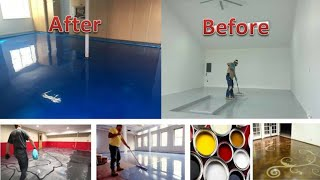 How to Apply Epoxy Flooring to Your Home|| 3d floor design ideas|| flooring installation ideas