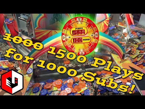 1500 RAPIDFIRE PLAYS! | Wizard of Oz Coin Pusher Arcade 1000 Subscriber Video | MOST PLAYS EVER!