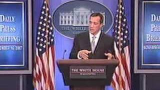 wh press briefing november 16 2007