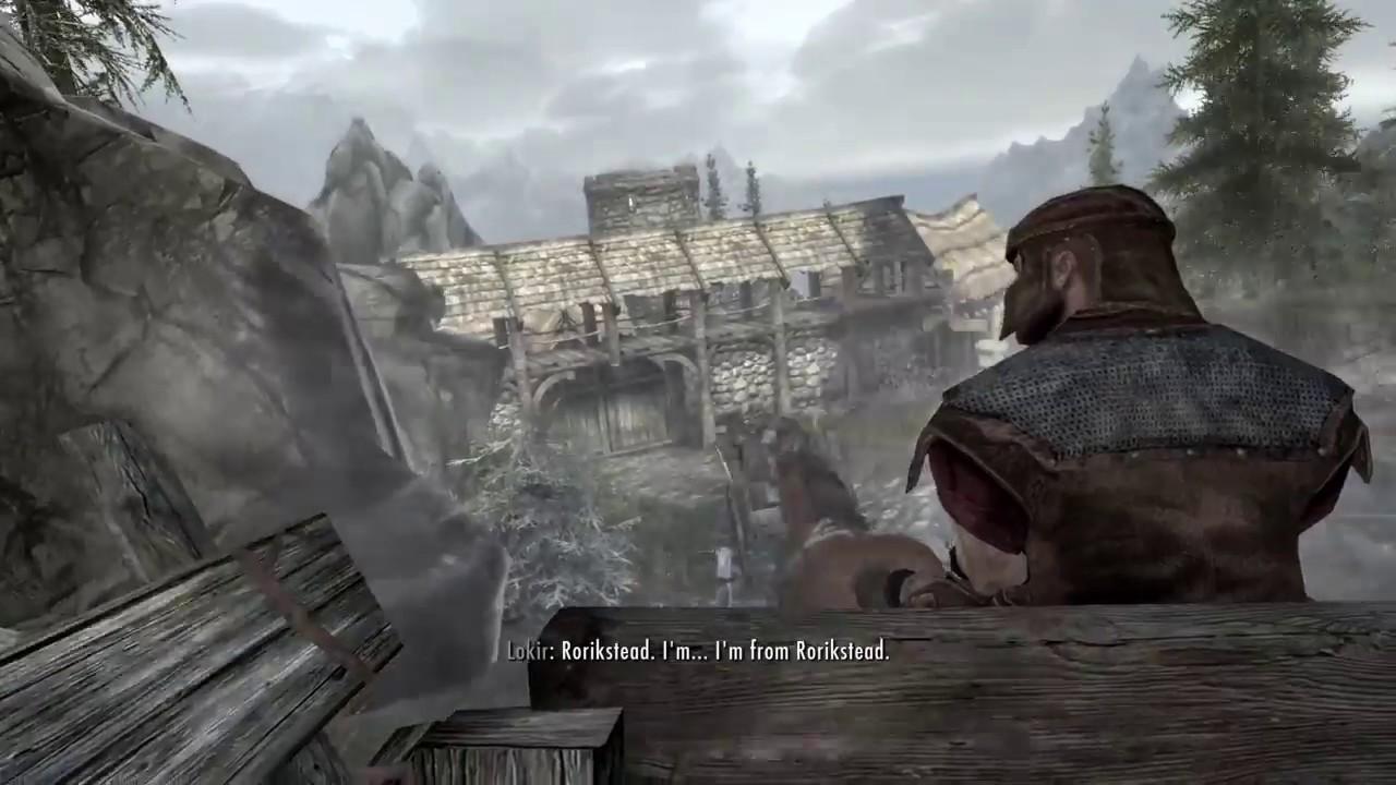 Opening Cutscene Gate Glitch   Skyrim - YouTube