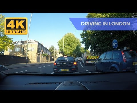2017 Driving in London: Chiswick to West Drayton with GoPro Hero 5 - 4K