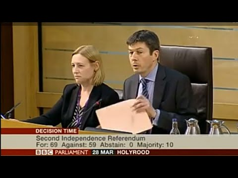 ScotRef: Scottish Parliament - IndyRef2 Debate Vote -  28th March 2017