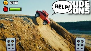Double Front Flip With A Car - Hill Climb Racing In Real Life!