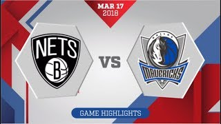 Dallas Mavericks vs Brooklyn Nets: March 17, 2018