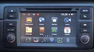 Navall Android head unit for E46 BMW and MG ZT Rover 75 Review   User interface and configuration op