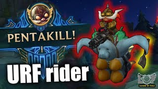 Best Pentakill Montage #17 - League of Legends (URF rider Corki, 1v5, Perfect Outplay) | LoL
