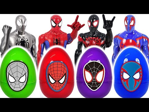Dinosaur! If you touch surprise egg, turn into Spider-Man! #DuDuPopTOY