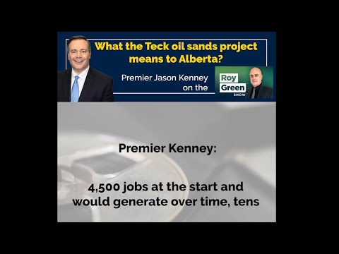 What the Teck oil project means to Alberta? | Jason Kenney