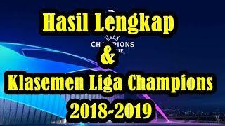 Hasil Lengkap dan Klasemen Liga Champions 2018/2019