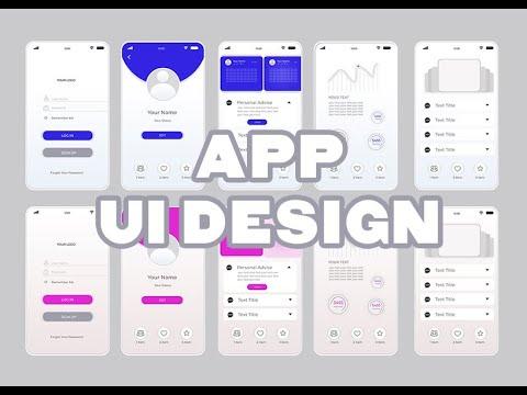 UI kit white and blue health app mobile App  In Adobe Illustrator UI Taking Apart GUI Preview thumbnail