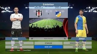 Besiktas JK vs Apoel FC, BJK Vodafone Park, PES 2016, PRO EVOLUTION SOCCER 2016, Konami, PC GAMEPLAY